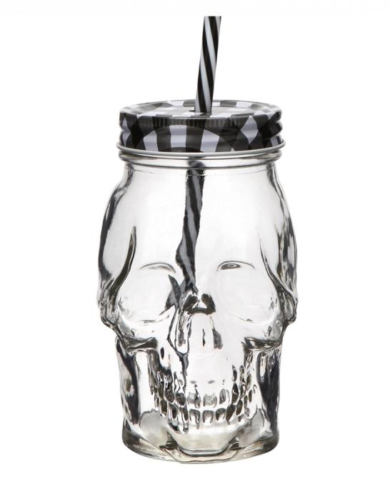 Bicchieri da Cocktail ,Tiki Mug Teschio in vetro 45 cl