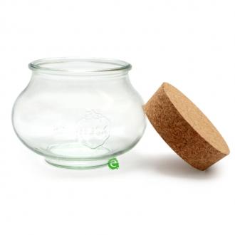 Decorazione Guarnizione ,Vasetto con tappo in sughero 1 litro