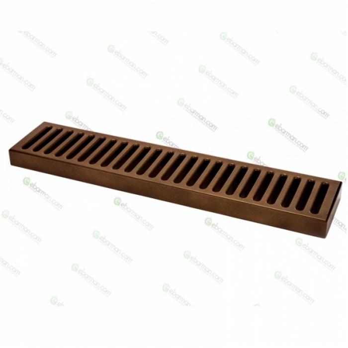 Bar Mat e Tappetini Bar mat in acciaio inox 18/9 Bronzo Antico 50x10,5 cm