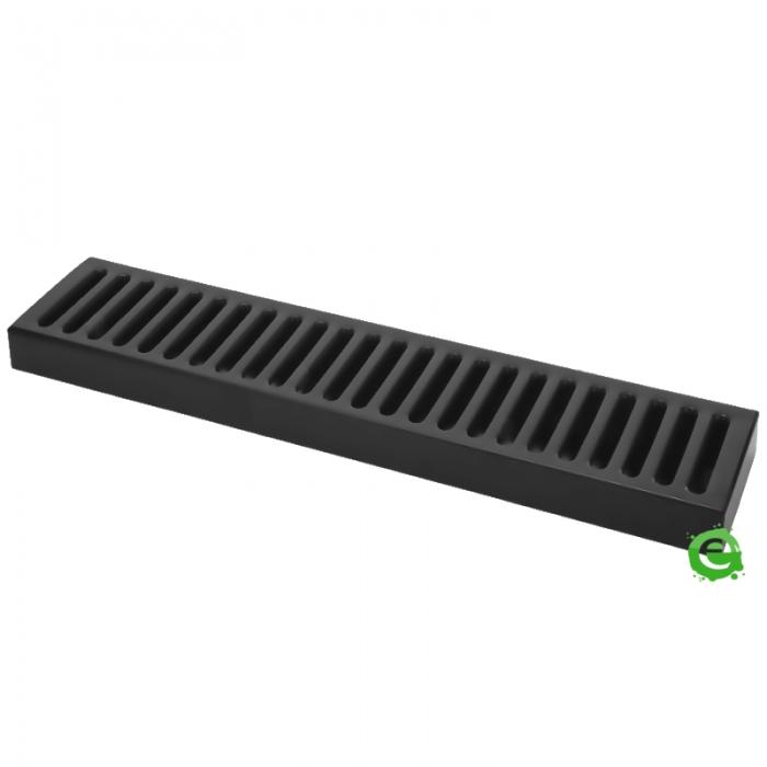Bar Mat e Tappetini Bar mat in acciaio inox 18/9 Nero Opaco 50x10,5 cm