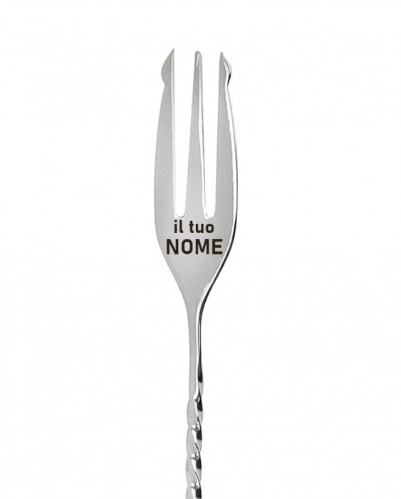 Attrezzatura Barman Personalizzata Bar spoon 30 cm personalizzato trident con nome