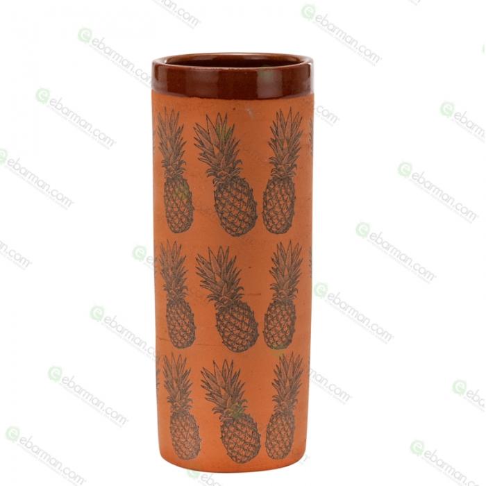 Mug Bicchiere Mug in Terracotta grezza con Ananas 40 cl