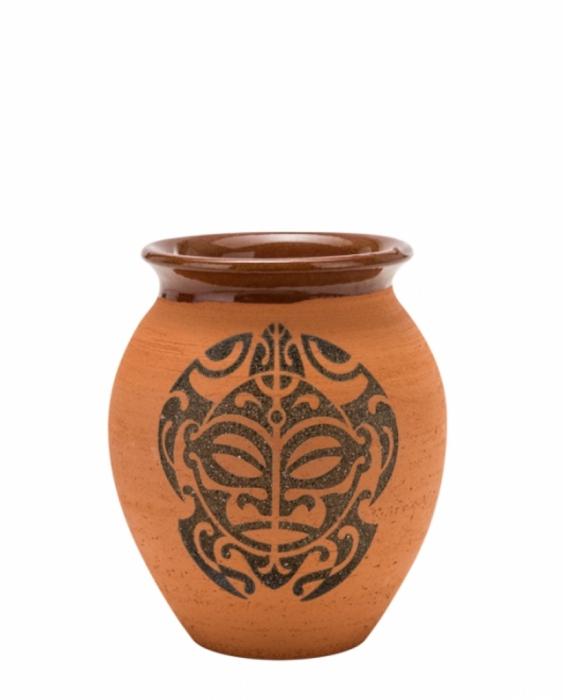 Mug Bicchiere Vaso Mug Turtle in terracotta grezza 43 cl