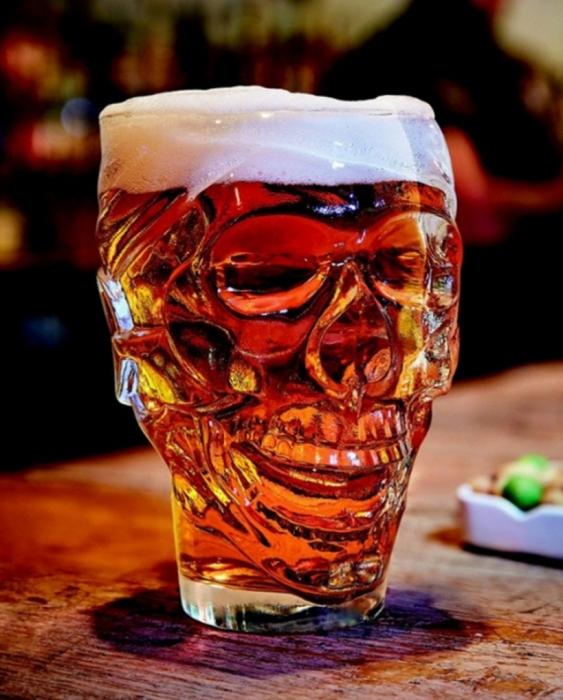 Bicchieri Birra Boccale Birra Skull 90 cl 1 pezzo