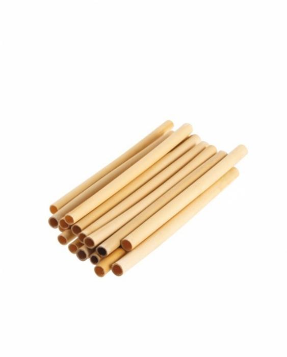 Cannucce e Tovaglioli Cannucce in Bamboo 14 cm Naturale Conf. 24 pz