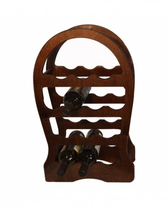 Accessori Vini & Champagne Cantinetta in legno scura per vino 13 posti 37x17x62 cm