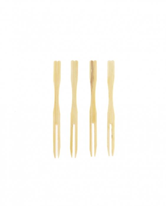 Decorazione Guarnizione Forchettina in bamboo 9 cm 100pz
