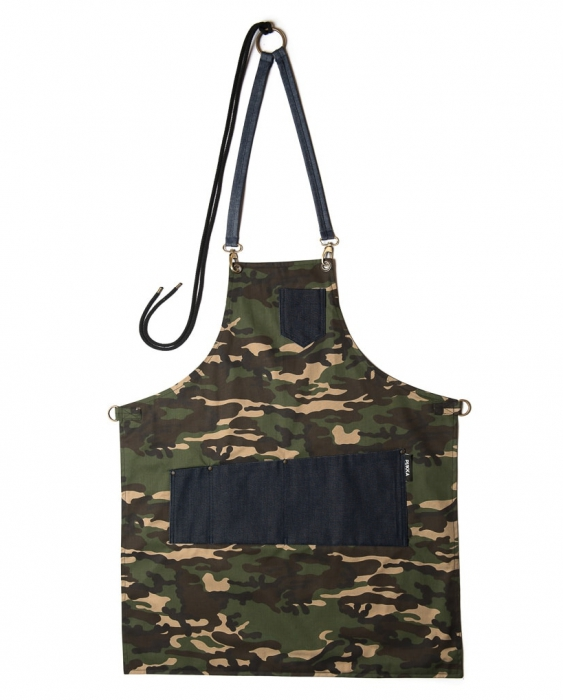 Abbigliamento per Barman Grembiule Pukka Military Apron in gabardine