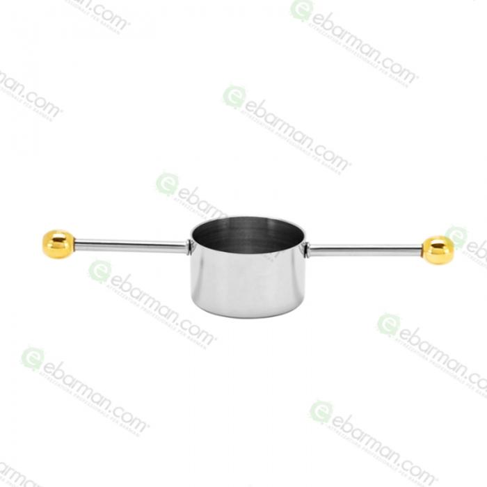 Jiggers Jigger Mr.Slim™ MR-419 in acciaio inox dettagli in oro 20 ml
