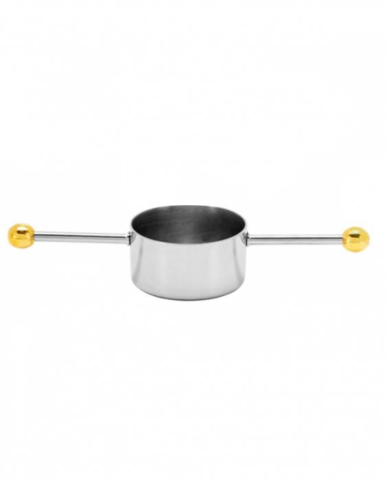 Jiggers Jigger Mr.Slim™ MR-420 in acciaio inox dettagli in oro 30 ml