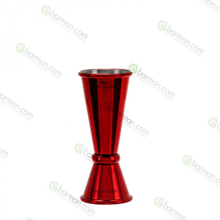 Jiggers Jigger style Japanese 15/30 ml rosso rubino