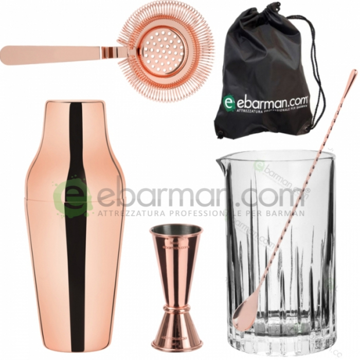Kit e valigette Barman Kit Barman Rame set 5pz con Sacca
