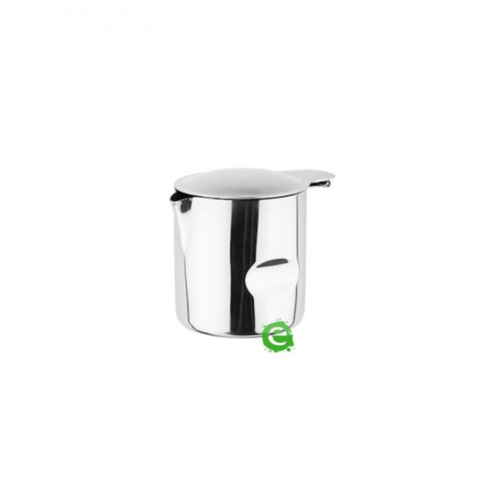 Caffetteria e Latte Art Lattierina con coperchio in acciaio inox 15 cl