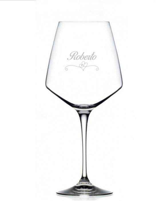Bicchieri Personalizzati Singoli Modello Cuori Calice Vino rosso Cristallo RCR 79 cl 1 pezzo
