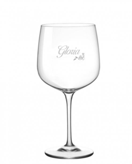 Bicchieri Personalizzati Singoli Modello Floreale Calice Gin Tonic Vetro Cristallino 76 cl 1 pezzo