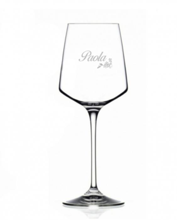 Bicchieri Personalizzati Singoli Modello Floreale Calice Vino bianco Cristallo RCR 46 cl 1 pezzo