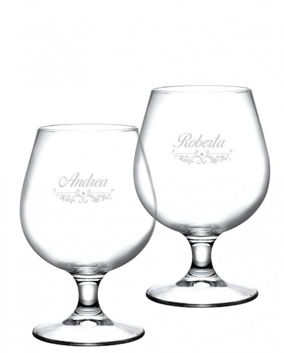 Bicchieri Personalizzati Coppia Modello Vittoriano Bicchiere Birra snifter 53 cl 2 pezzi