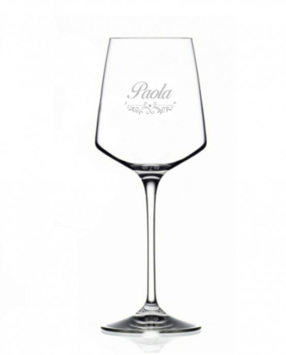 Bicchieri Personalizzati Singoli Modello Vittoriano Calice Vino bianco Cristallo RCR 46 cl 1 pezzo