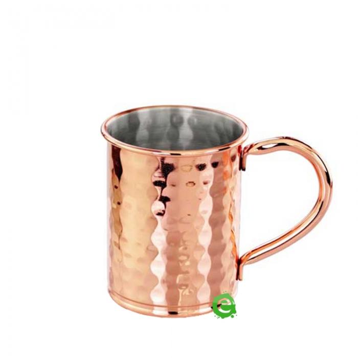 Mug Moscow mule martellata cilindrica rame 40 cl