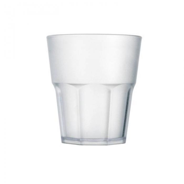 Bicchieri in Plastica Rock basso 29 cl satinato 8pz