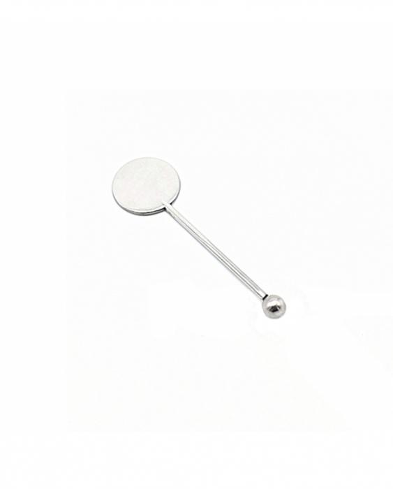 Decorazione Guarnizione Stirrer Round in acciaio 10 cm 4pz