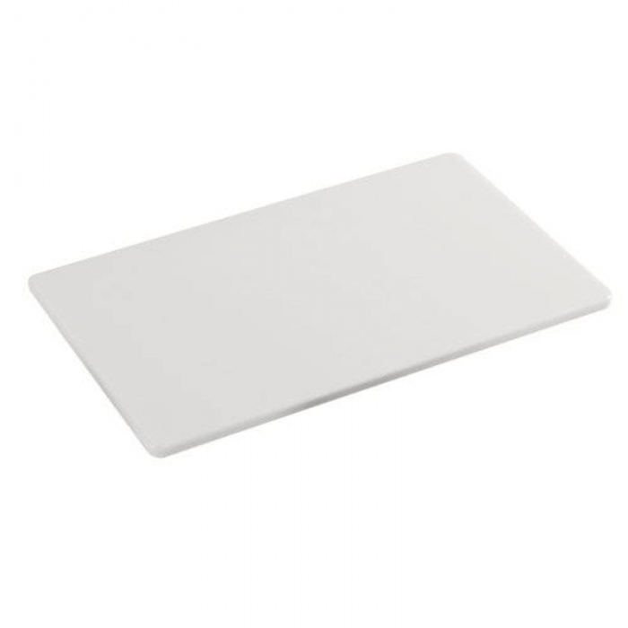 Decorazione Guarnizione Tagliere 35x25 cm in polietilene colore bianco