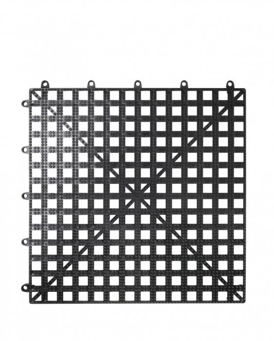 Bar Mat e Tappetini Tappetini sottobicchieri bar componibile 30,5 x 30,5 cm nero