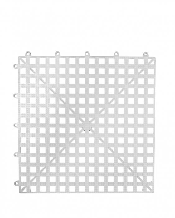 Bar Mat e Tappetini Tappetini sottobicchieri bar componibile 33 x 33 cm bianco