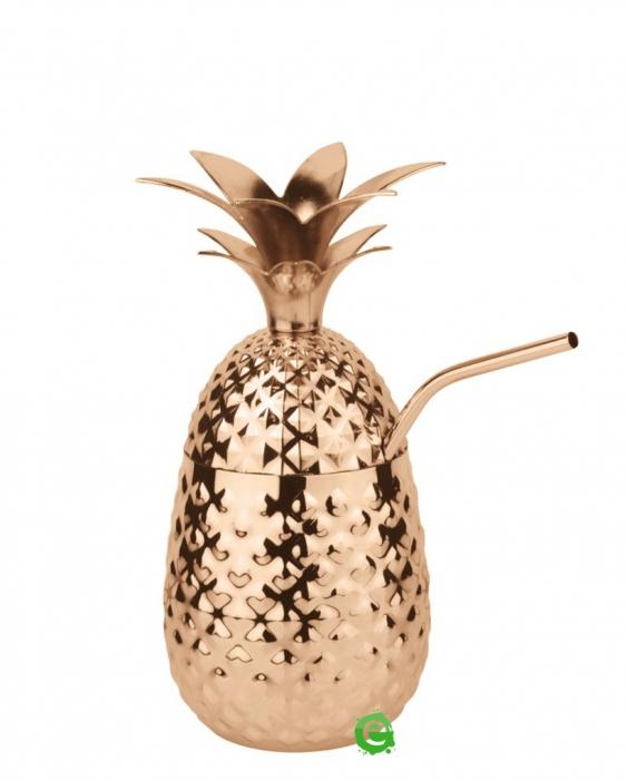 Mug Tazza Ananas in Acciaio Pineapple Mug rame 50 cl