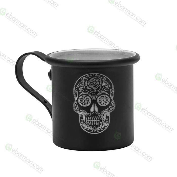 Mug Tazza in alluminio 42.5 cl Nero opaco Mexican Skull