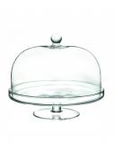 Decorazione Guarnizione Alzata Porta dolci con cupola rotonda RCR in cristallo