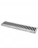 Bar Mat e Tappetini Bar mat in acciaio inox 18/9 50x10,5 cm