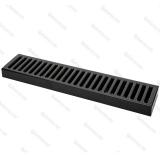 Bar Mat e Tappetini, Bar mat in acciaio inox 18/9 Nero Lucido 50x10,5 cm