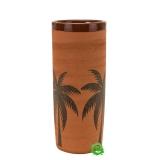 Mug , Bicchiere Mug in Terracotta grezza con Palme 40 cl