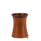 Mug Bicchiere Mug in terracotta grezza svasato 35 cl