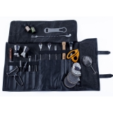 Kit e valigette Barman, Borsa Barman Roll up Vintage Nera in Vera Pelle