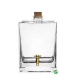 Botti e Alambicchi, Botte in vetro con rubinetto oro 2,5 lt