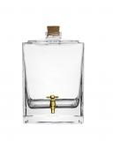 Botti e Alambicchi Botte in vetro con rubinetto oro 2,5 lt