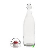 Bitters Bottle Bottiglia in vetro per sciroppi e succhi di frutta con tappo 1 lt