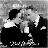 Nick e Nora, Calice Nick & Nora Champagne decorato bianco 25 cl 6pz