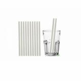 Cannucce e Tovaglioli Cannucce dritte colore Bianco 21cm Biodegradabili e Compostabili Conf.500 pz