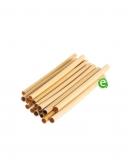 Cannucce e Tovaglioli, Cannucce in Bamboo 14 cm Naturale Conf. 24 pz