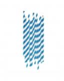 Cannucce e Tovaglioli Cannucce in Carta Blu e Bianco Conf. 25 pz