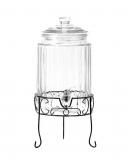 Botti e Alambicchi Drink dispenser in vetro con supporto 5.8 lt