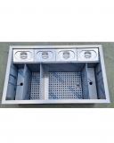 Moduli Bar e Bottigliere, Drink Station PRO a incasso in acciaio inox AISI 304