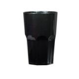 Bicchieri in Plastica Granity 40 cl nero 10pz