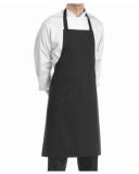 Abbigliamento per Barman Grembiule in cotone colore nero