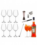 Kit e valigette Barman Kit Barman Aperol Spritz Set 10pz