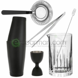 Kit e valigette Barman Kit Barman Nero opaco Set 6pz