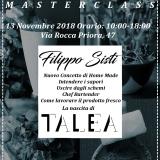 Master e Seminari La Nascita di Talea con Filippo Sisti 13 Novembre 2018